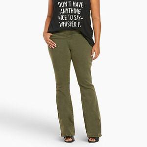 NWOT Torrid Slim Boot Olive Green Lean Jeans 10S